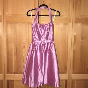 Alfred Sung Silk Halter Dress Size 6 NWT